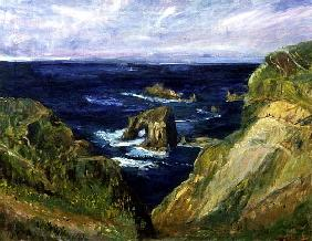 The Hole in the Rock, Cornwall, 1997 (oil on canvas)