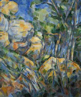 Cezanne / Rocks near Chateau Noir / 1904