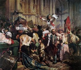 The Conquerors of the Bastille before the Hotel de Ville in 1789