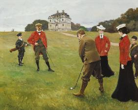 Golf Players at Copenhagen Golf Club