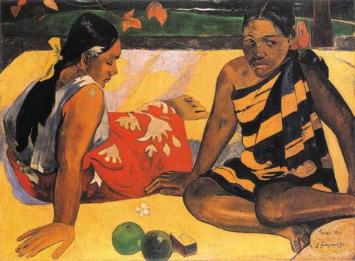 Dos mujeres de Tahití