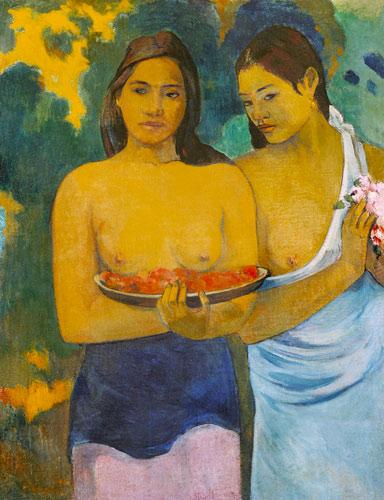 Mujeres tahitianas