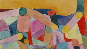 (Untitled) Colour composition, c.1914 (w/c and pencil on paper)