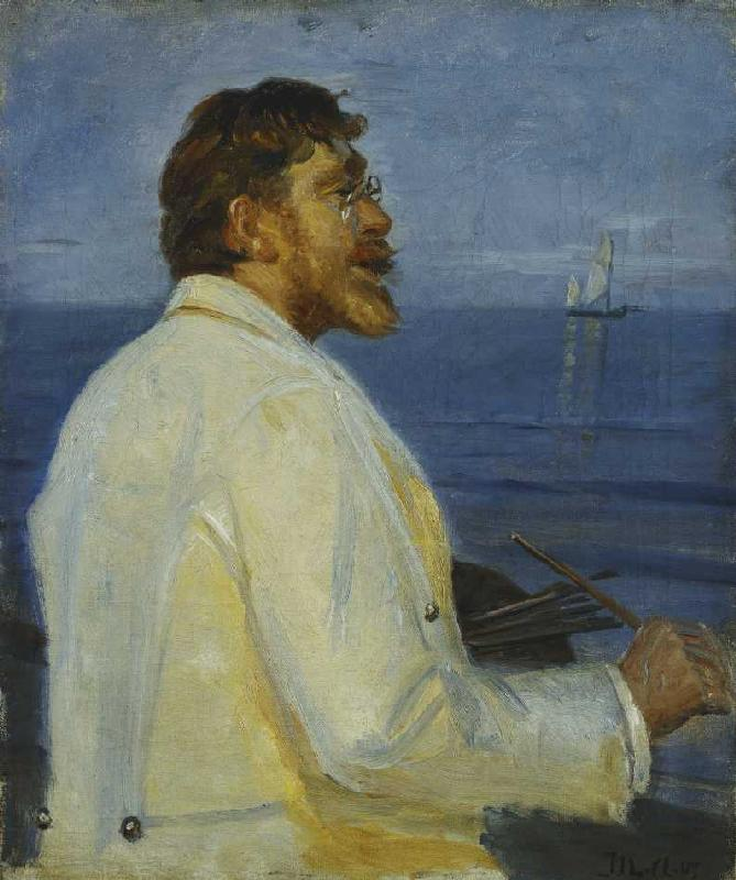 Retrato del pintor Peder Severin Krøyer - Michael Peter Ancher