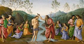 Perugino, Baptism of Christ / Paint.