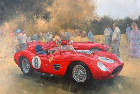 Ferrari, day out at Meadow Brook (óleo sobre lienzo)