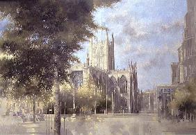 Bath Abbey, 1990 (oil on canvas)