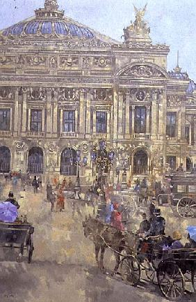 L''Opera, Paris, 1993 (oil on canvas)
