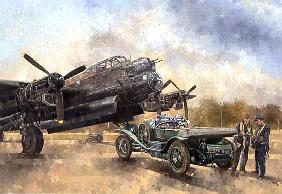 Miller Peter  - A Lancaster and a Bentley, 2000 (oil on canvas)