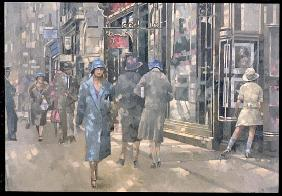Bond Street, 1999 (oil on canvas)