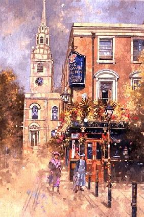 Crown Tavern, Clerkenwell, 2000 (oil on canvas)