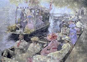 Henley Regatta, 1992 (oil on canvas)