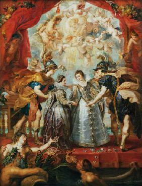 The Exchange of the Princesses at the Spanish Border. (The Marie de' Medici Cycle)