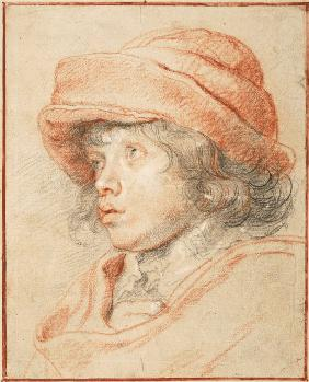 Rubens's Son Nicolaas Wearing a Red Felt Cap