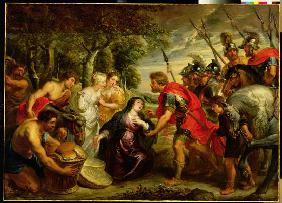 The Meeting of David and Abigail, 1625-28