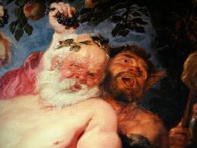 Drunken Silenus Supported by Satyrs, c.1620 (oil on canvas) (detail of 259760)