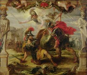 Achilles Defeating Hector, 1630-32 (oil on panel)