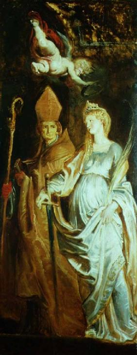 St. Catherine of Alexandria and St. Eligius (panel)