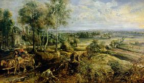 Autumn landscape in view of Het Steen