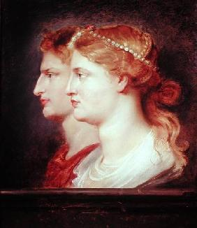 Tiberius (42BC-37AD) and Agrippina