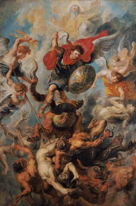 The Engelsturz. Archangel Michael in the fight aga