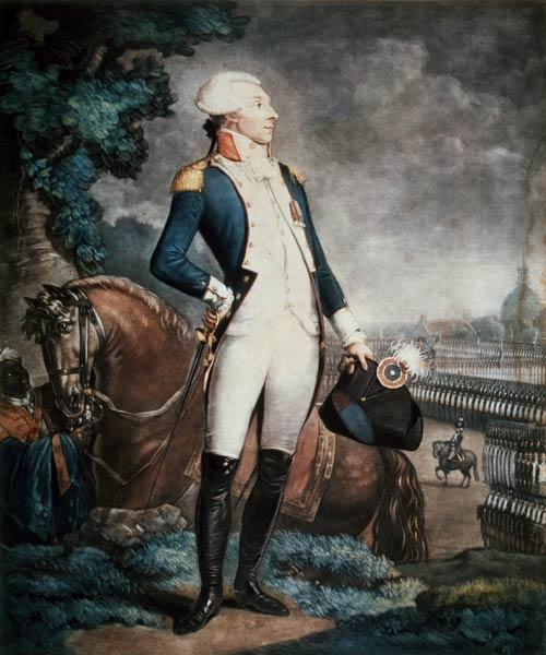 Portrait of the Marquis de La Fayette (1757-1834) commander of the National Guard