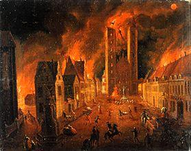 Fire of the cathedral to Breslau
