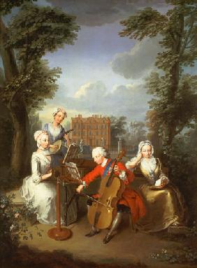 """The Music Party"", Frederick, Prince of Wales and his sisters"