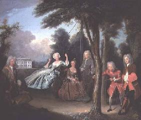 Viscount Tyrconnel with his family c.1725-6