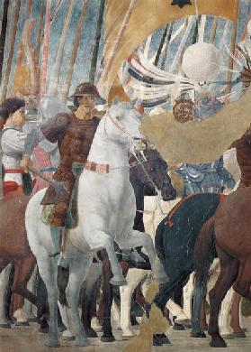 The Legend of the True Cross, detail of the Victory of Constantine at the Battle of the Milvian Brid