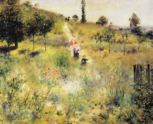 Titulo de la imágen Pierre-Auguste Renoir - Rising way in the high grass