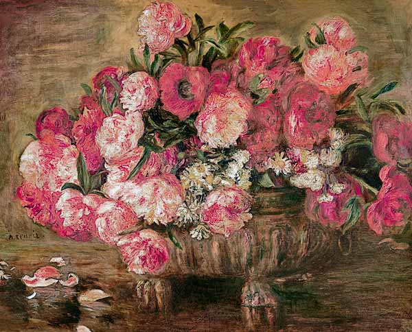 Pierre-Auguste Renoir - Quiet life with peonies