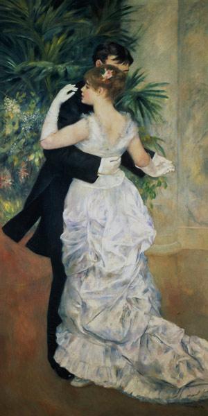 Pierre-Auguste Renoir - Baile en la ciudad