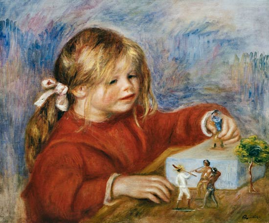 Pierre-Auguste Renoir - The playing Claude Renoir