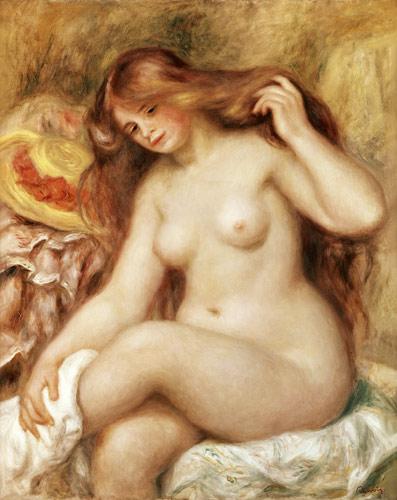 Pierre-Auguste Renoir - Una pelirroja tomando el baño