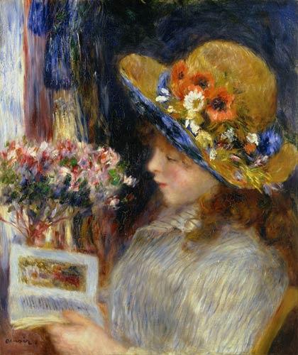 Pierre-Auguste Renoir - Una joven leyendo