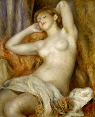 Pierre-Auguste Renoir - La bañista durmiente