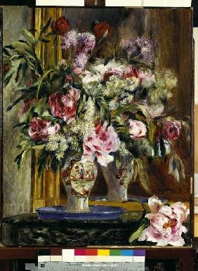 Flower still life in front of the mirror