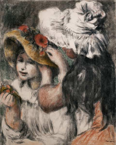 Renoir Pierre-Auguste - The Pinned Hat (Berthe Morisot's daughter and her cousins)