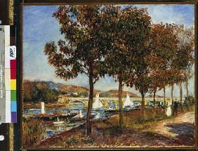 Autumn at the bridge of Argenteuil