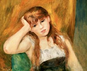 Renoir, Pierre-Auguste : Young thoughtful girl