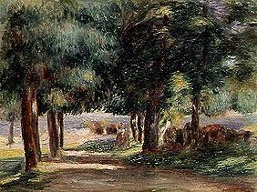 Landscape, way under trees