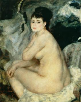 Nude, or Nude Seated on a Sofa
