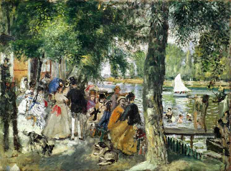 Bañándose en el Sena