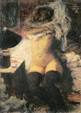 Nude Woman with Black Stockings
