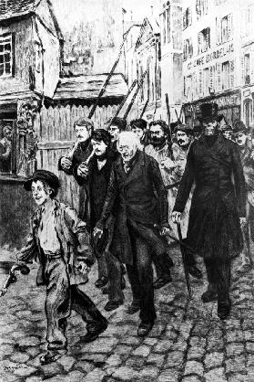 Gavroche Leading a Demonstration, illustration from 'Les Miserables' by Victor Hugo