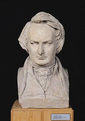 Bust of Victor Hugo (1802-85) aged 35