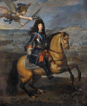 Equestrian portrait of Louis XIV at the Siege of Namur