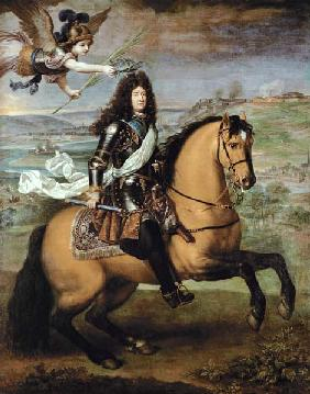 Equestrian Portrait of Louis XIV (1638-1715) Crowned by Victory