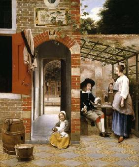 The Courtyard of a House in Delft